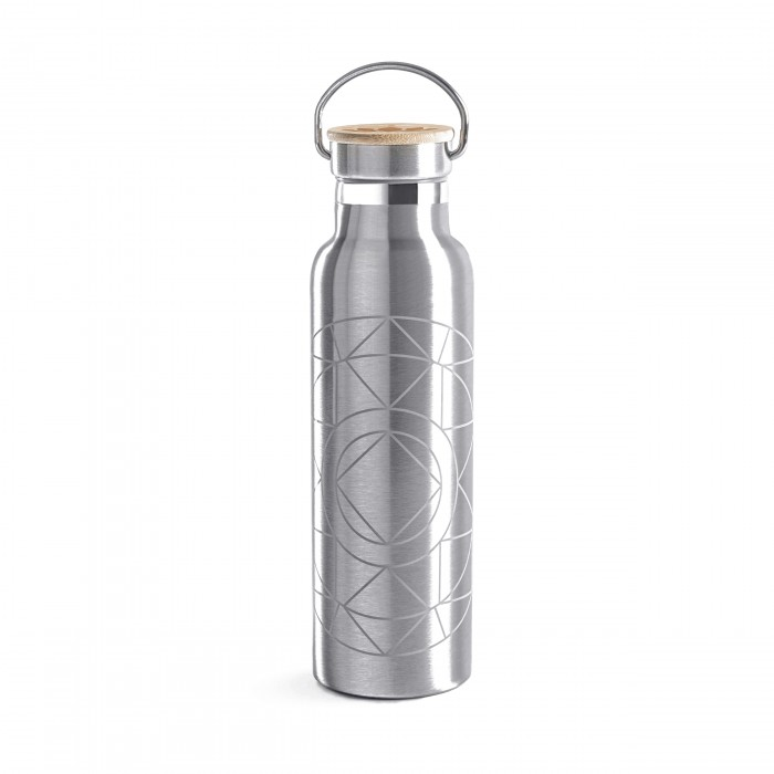 Lotuscrafts Stainless Steel μπουκάλι με καπάκι bamboo - Mandala