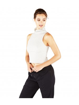 Manduka crinkle funnel tank - light grey heather Ρούχα Yoga & Pilates